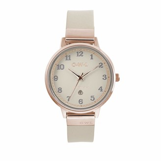 OWL Women's Analogue Japanese Quartz Watch with Stainless Steel Strap S8SRM