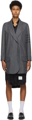 Thom Browne Grey Wool and Cashmere Unconstructed 4-Bar Coat