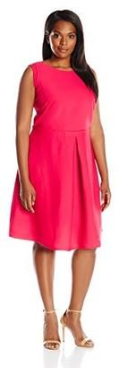 Julia Jordan Women's Plus-Size Fit and Flare Dress
