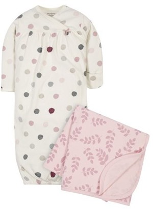 Modern Moments by Gerber Baby Girl Gown and Swaddle Blanket, 2-Piece Set