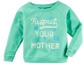 Girl's Peek Respect Your Mother Sweatshirt