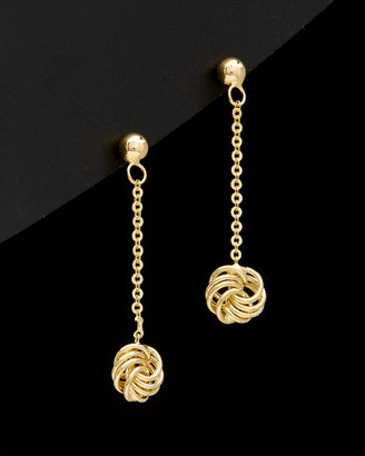 Italian Gold 14K Love Knot Drop Earrings