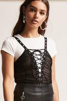 Forever 21 Ruched Lace-Up Bodysuit