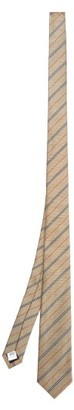 Burberry Nova-stripe Silk Tie - Mens - Beige