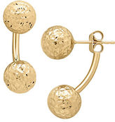 Lord & Taylor 14K Yellow Gold Ball Large Ear Jackets
