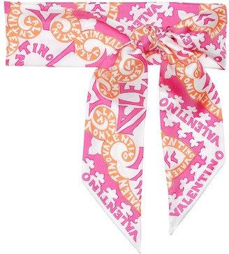 Valentino Exclusive to Mytheresa Printed silk-twill scarf