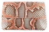 Nancy Gonzalez Painted Python Clutch
