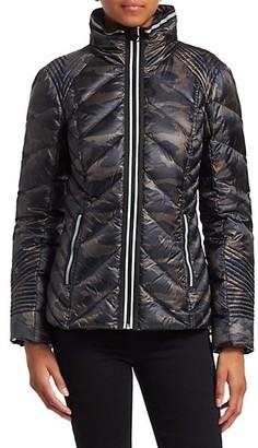 Blanc Noir Reflective Detail Camo Puffer Jacket