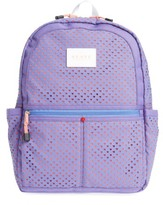 Girl's State Bags Perforated Hearts Kane Backpack - Purple