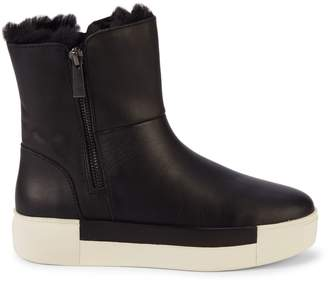 J/Slides Victory Faux Fur-Lined Waterproof Leather Boots