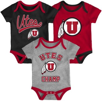 NCAA Baby Utah Utes Champ 3-Pack Bodysuit Set