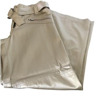 Cerruti \N Gold Cotton Trousers