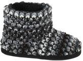 Dearfoams Women's Popcorn Knit Bootie Slipper with Memory Foam