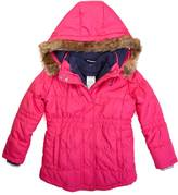 Nautica Girls' 3-In-1 Faux Fur Trim Hooded Coat (8-16)