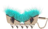 Fendi Bag Bugs fox-fur brooch