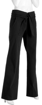 black stretch cotton high waisted pants
