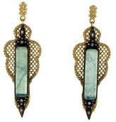 Armenta 18K Moonstone, Diamond & Colorless Sapphire Drop Earrings