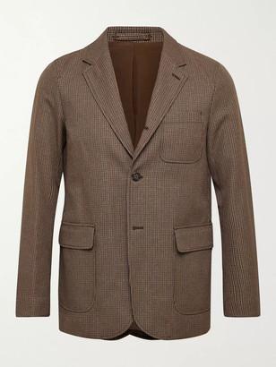 Beams Puppytooth Tweed Suit Jacket