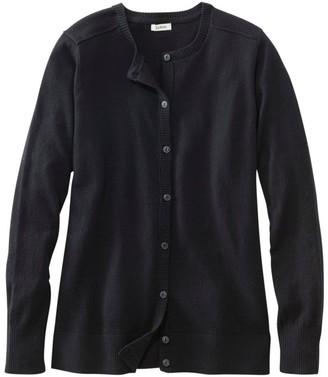 L.L. Bean Women's Cotton/Cashmere Cardigan, Button-Front