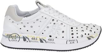 Premiata White Leather Sneakers