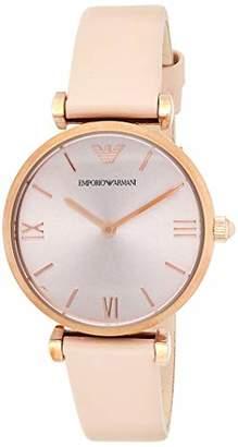 Emporio Armani Women's Gianni T-Bar Analog-Quartz Watch with Leather Calfskin Strap