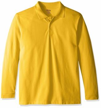 Classroom School Uniforms Men's Adult Unisex Long Sleeve Pique Polo