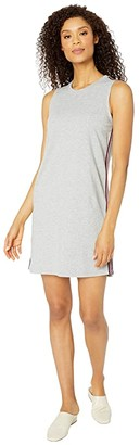 Mod-o-doc Lightweight French Terry Tank Dress with Stripe Trim (Heather Grey) Women's Dress