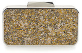 Kate Landry Crushed Rock Beaded Frame Clutch