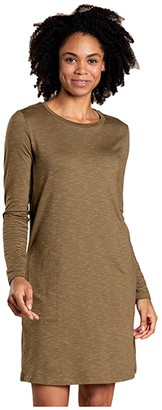 Toad&Co Windmere II Long Sleeve Dress (Fir) Women's Clothing