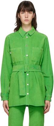 MSGM Green Cord Shirt