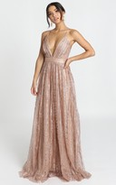 Showpo Romantic Night Maxi Dress in rose gold glitter - 8 (S) Wedding