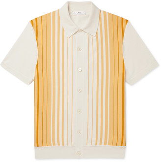 Mr P. Striped Cotton Polo Shirt