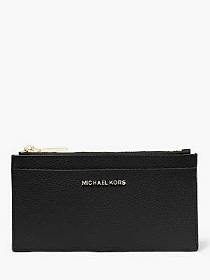 Michael Kors MICHAEL Jet Set Leather Travel Zip Top Card Purse