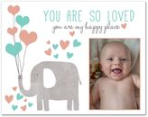 "14-Inch x 11-Inch Children's ""You Are So Loved"" Elephant Canvas Wall Art"