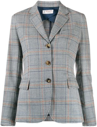Alberto Biani Check-Pattern Fitted Blazer
