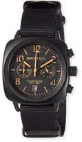 Briston Clubmaster Classic Chronograph Watch, Black/Orange