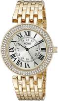 XOXO Women's XO265 Analog Display Analog Quartz Gold-Tone Watch
