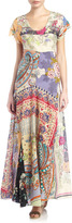 Johnny Was Print Patchwork Maxi Dress