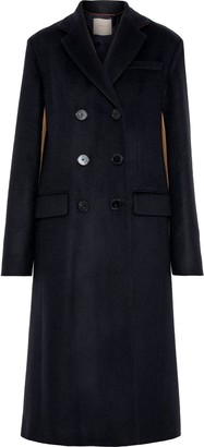 Roksanda Double-breasted Two-tone Wool And Cashmere-blend Felt Coat