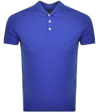 Giorgio Armani Emporio Short Sleeved Polo T Shirt Blue