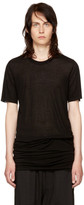 Rick Owens Black Basic T-Shirt