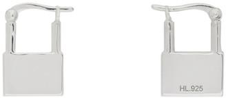 Hatton Labs Silver Padlock Hoop Earrings