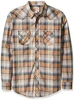 Wrangler Men's Tall Size Long Sleeve Western Two Pocket Jean Shirt