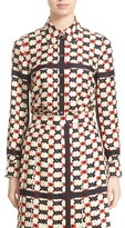 Marc Jacobs Women's Check Print Silk Shirt