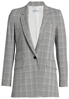 Max Mara Piuma Glen Plaid Blazer Jacket