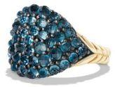 David Yurman Osetra Pinky Ring with Hampton Blue Topaz and 18K Gold