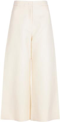 Jil Sander Off-white wide-leg cotton trousers