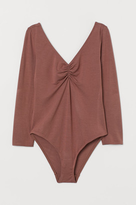 H&M Low-cut Bodysuit - Orange