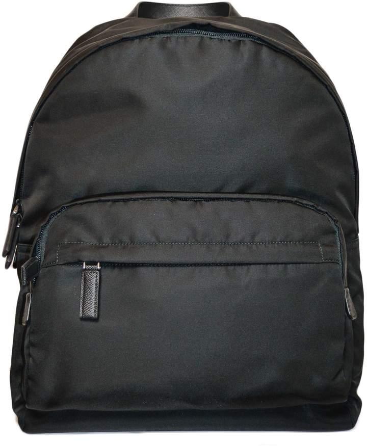 Prada Zip-pocket Logo Backpack