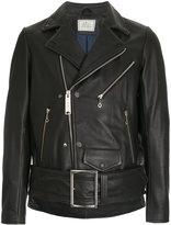 Miharayasuhiro belted biker jacket